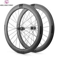 Rolling Stone колеса углерода 700C довод Велокросс Колесная тормозного диска Aero Рим 58 мм гравийной дороге велосипед QR через ось 12 мм 15 мм