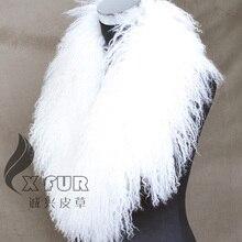 COLLAR-S11 длинные волосы модная одежда Decaration грелка монгольского ягненка натуральный мех воротник-шарф