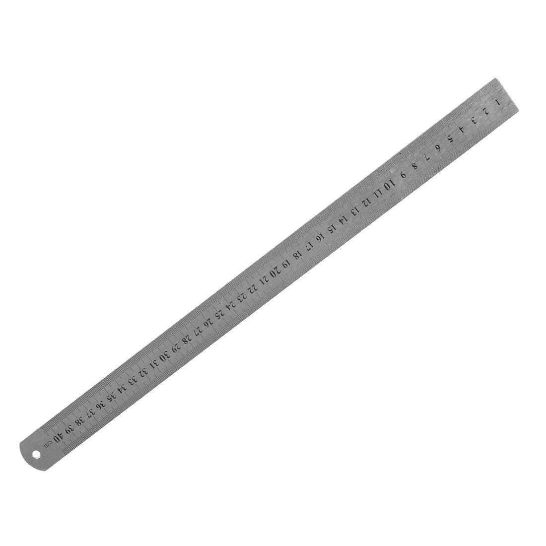 SOSW-Stainless Steel 16 Inch Straight Ruler Measuring Kit Metric 40cm