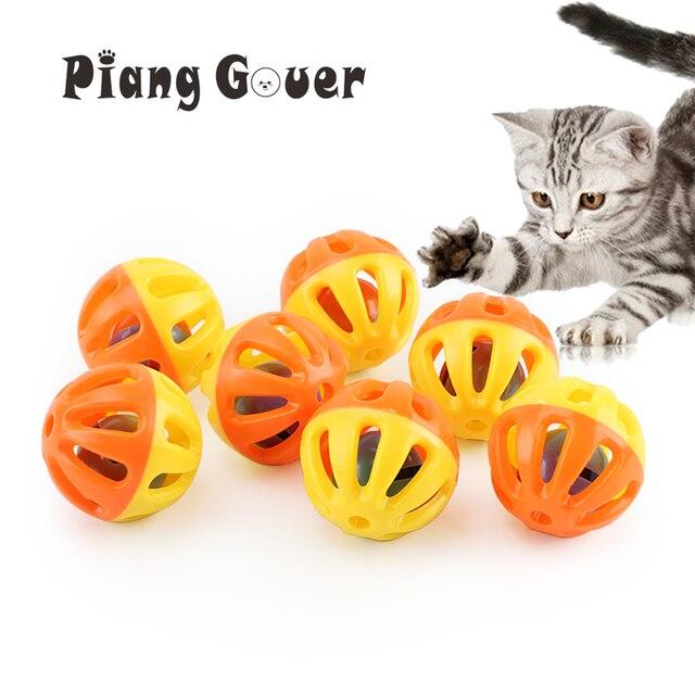 10 pz di Plastica Pet Giocattolo Piccola Campana Palle Gatto Giocattolo Scava Fu