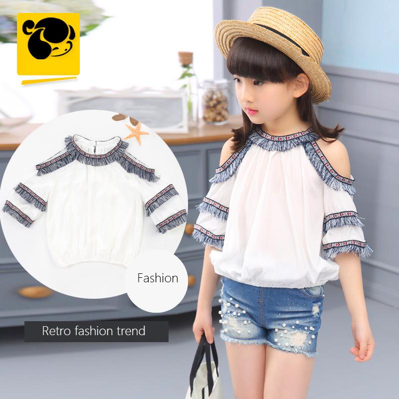 52da6993854 T Shirts Summer Girls Fashion Teenage Girl Top Coisas Baratas Child Clothing  for Girls T Shirt Short Sleeve Kids T shirt 50H093-in Tees from Mother    Kids ...