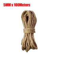 5mm Thick Rope Jute Rope Strong Hemp Rope Cord Twine for Arts Crafts DIY Decoration Gift Wrapping 100Meters