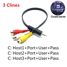 Cccam Europe Cline for 1 year free Satellite receiver for Spain Germany Portugal Poland Italy Netherlands with 3rca av cable(China)