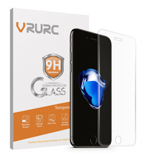 Vrurc Tempered Glass Screen Protector for iPhone 7 7 plus 6 6s Plus 3D Curved edge Full Cover Glass Film for i6 i6s i7 plus