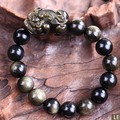 Удачи браслет Pixiu браслет фэн-шуй Obsidan браслет из бисера богатство Pixiu браслет