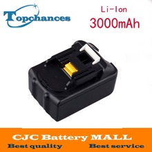 18V 3.0Ah Li-Ion Replacement Power Tool Battery for Makita 194205-3 194309-1 BL1830 LXT400 Free Shipping