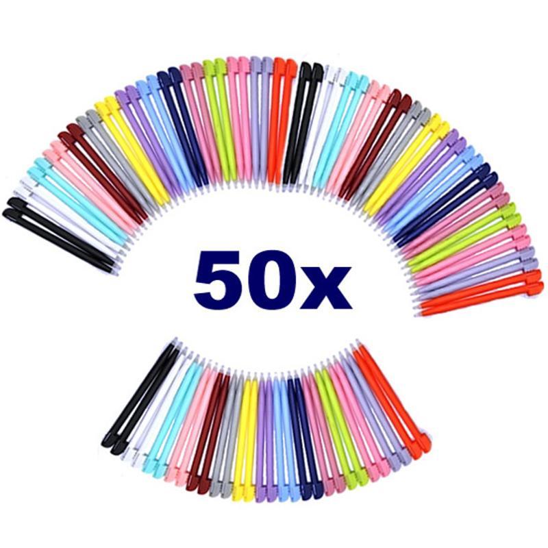 Top Sale 50pcs/pack 8.5cm Muti-color Touch Stylus Pen For Nintendo DS Lite L3EF With High Quality (Random)