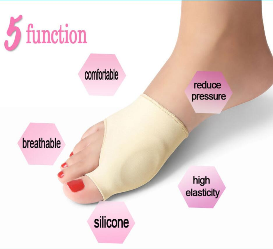 1 Pair Foot Care Relieve Thumb Pain Silicone Big Toe Bunion Splint Straightener Bunion Toe Separator Hallux Valgus Corrector in Braces Supports from Beauty Health