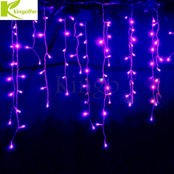 Kingoffer Connectable 3.5M 96 Led Curtain Icicle String Fairy Lights Christmas Lamps Lights Xmas Wedding Party Decor Outdoor