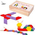 60pcs Baby Boys Girls Children Kid's Learning Educational Pattern Building Blocks Toys Wooden Wood Toy Gift SV18