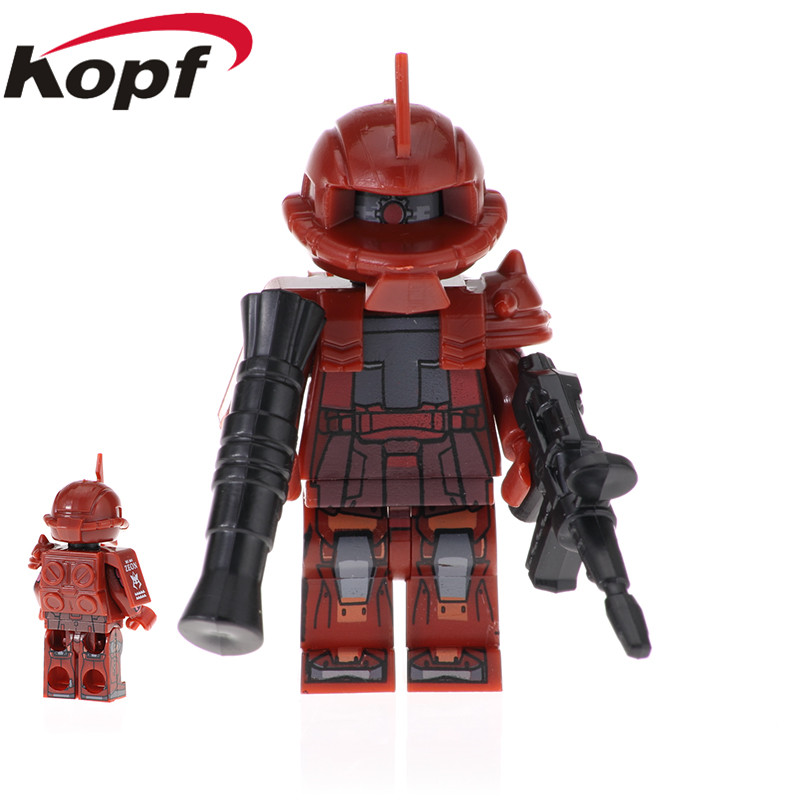 Model Building Buy Cheap 20pcs Building Blocks Mobile Suit Fiugres Ms-06r-1a White Wolf Prototype Zaku Ms-05k Dolls Bricks Children Toys Gift Pg2012 Toys & Hobbies