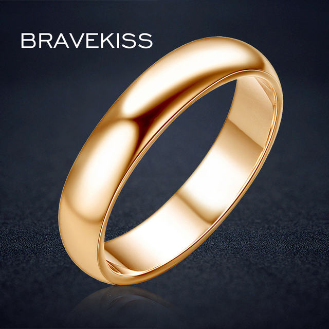 bravekiss simple plain wedding band engagement rings for her and he alliance couples ringen voor vrouwen - Simple Wedding Rings For Her