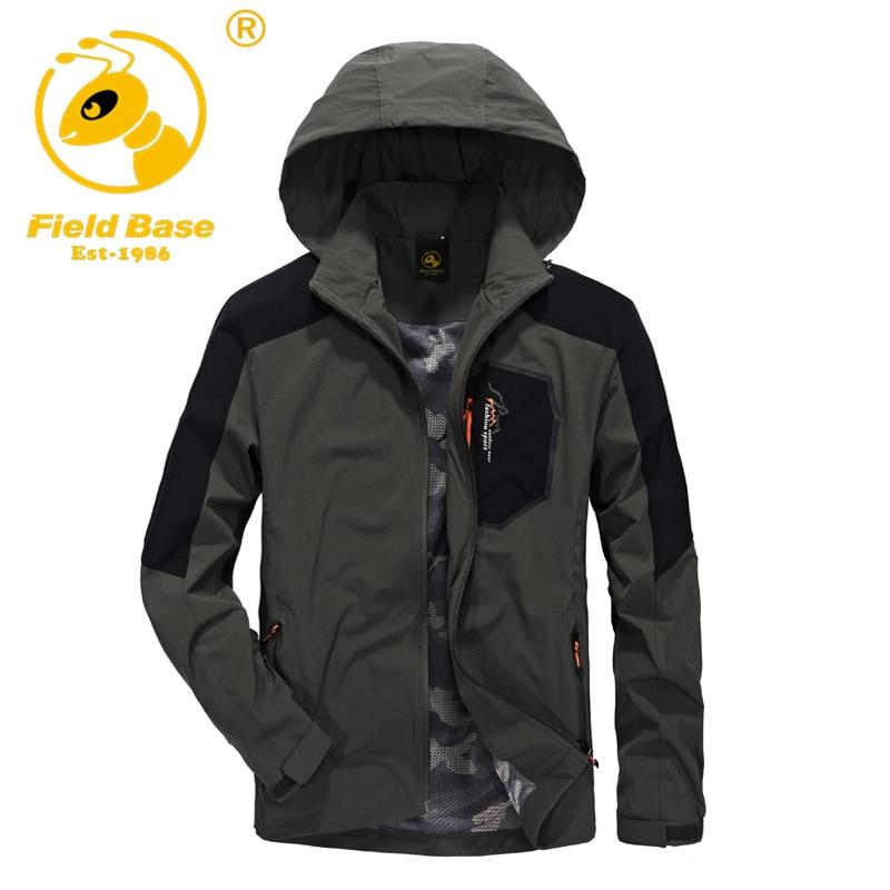 Campo Base de Marca para hombre al aire libre deportes chaqueta cortaviento impe