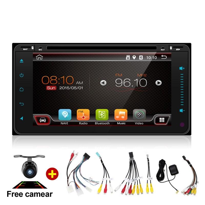 """imágenes para 7 """"2Din 4 Core Toque Tablet PC 2 Din Android 6.0 Del Coche DVD Universal Para Toyota 200*100 de Navegación GPS BT de Radio Estéreo de Audio jugador"""
