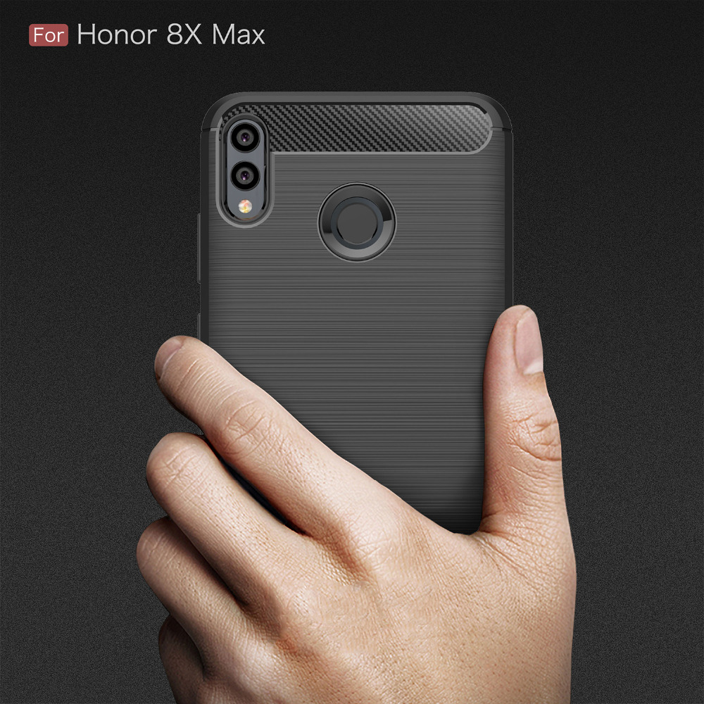 Honor 8X Max Case Silicone For Huawei Mate 20 Lite Y6 Prime 2018 Honor 7A Pro Carbon Fiber Soft Luxury Cover Coque Honor 7A Pro