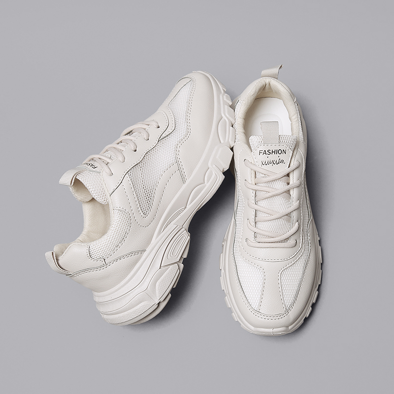 Fashion Platform Shoes Leather Sneakers Women 2018 Vulcanized Shoes Tenis Feminino Leisure Harajuku Chunky Trainer Gympen