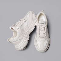 Fashion Platform Shoes Leather Sneakers Women 2018 Vulcanized Shoes Tenis Feminino Leisure Harajuku Chunky Trainer Gympen