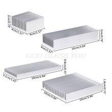 Disipador de calor de aluminio extruido para refrigerador de Chip LED IC de alta potencia, disipador de calor para radiador, envío rápido
