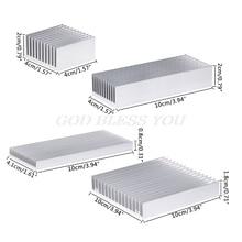 Dissipador de calor de alumínio extrusado, para alta potência, led, chip ic cooler, radiador, dissipador de calor, envio direto