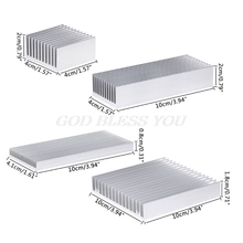 Extruded Aluminum Heatsink For High Power LED IC Chip Cooler Radiator Heat Sink Drop Shipping