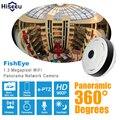 Hd 960 p de la cámara ip panorámica de 360 grados vista completa mini fisheye cctv cámara de 1.3mp cámara de red wifi seguridad para el hogar hiseeu