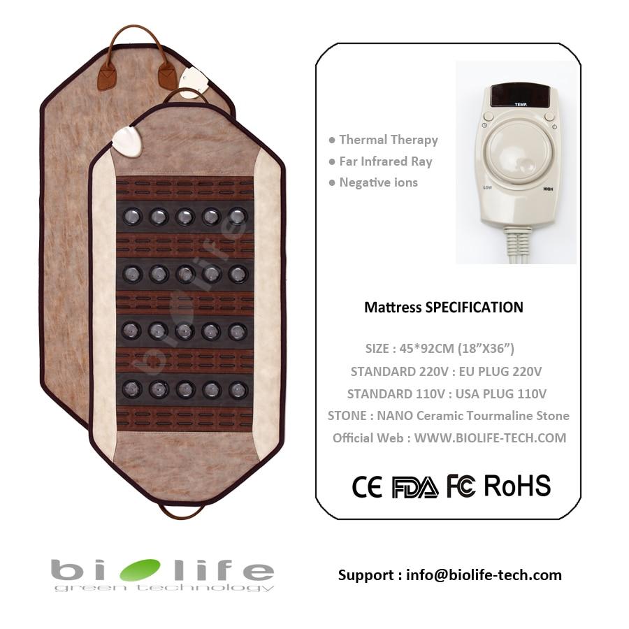 Free Shipping Ceratonic Stone Health Bio Ceramic Therapy Jade Mattress heating pad Korea therapy Tourmaline jade mat