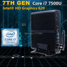 [7th Gen Kabylake] Intel Mini PC Win10 Core i7 7500U HD graphique 620 HD TV Box Mini ordinateur Win10 Minipc DP Port HD-MI(China)