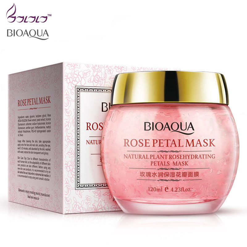 bioaqua Rose Hydra petals Fade out fine lines face Mask sleep mask for face care anti oil pores whitening skin care facial mask matis face care mask delicate