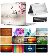 Printed Patterns Crystal Hard Case with keyboard Cover For Macbook Pro 13.3 15.4 Pro Retina 12 Macbook Air 11 13 Laptop Case чехол crystal case для macbook 12