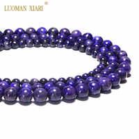 AAA + 100% Natural Charoite gema cuentas de piedra redonda para hacer joyería Beadwork DIY pulsera collar 6/8/ hilo de 10mm 15,5 pulgadas