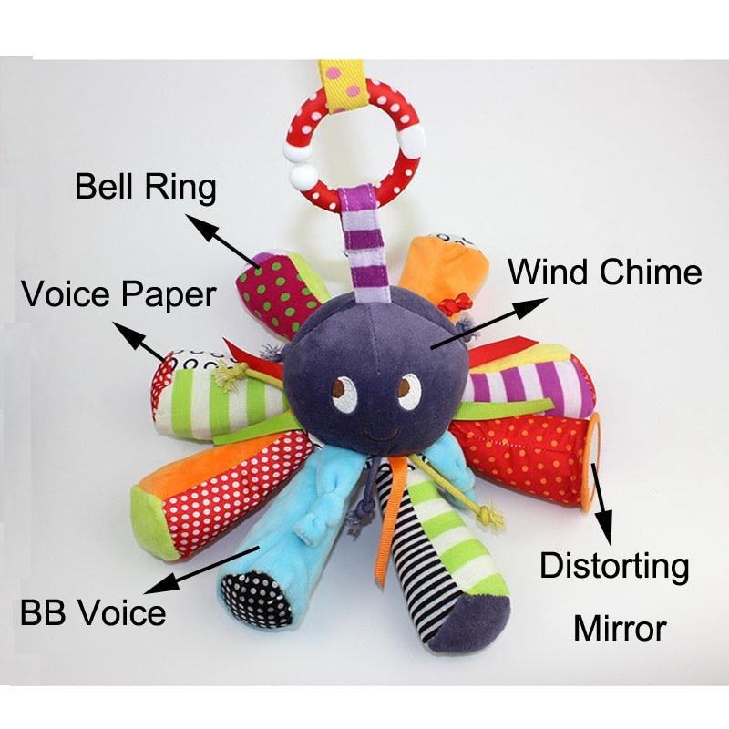 Baby Rattle ութոտնուկի խաղալիքների - Խաղալիքներ նորածինների համար - Լուսանկար 5