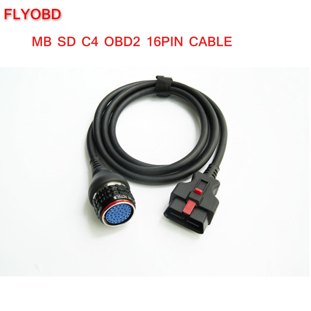 High Quality OBD2 16pin Cable for MB SD Connect Compact 4 Star Diagnosis mb star c4