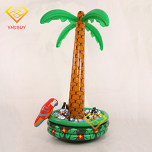 Inflatable Palm Tree With Parrot Cooler Ice Bucket Decoration Party Supplies Favor Environmental PVC