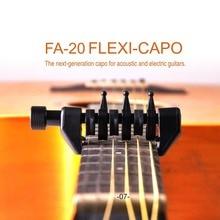 Black Portable Guitar tuning capo Flanger Flexi-Capo FA-20