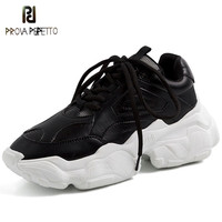 Prova Perfetto 2019 Celebrity Sneakers Women Trendy Chunky Dad Shoes Woman Buty Damskie Thick Sole Ladies Platform Shoes Femme