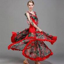 قاعة أثواب رقص قاعة الفالس فساتين ل قاعة الرقص فوكستروت الفلامنكو اللباس الحديثة أزياء رقص الرقص ارتداء