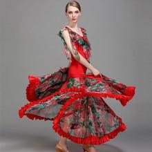 Ballroom ชุดเต้นรำบอลรูม waltz ชุดสำหรับห้องบอลรูมเต้นรำ foxtrot flamenco ชุดโมเดิร์นเต้นรำชุดเต้นรำ