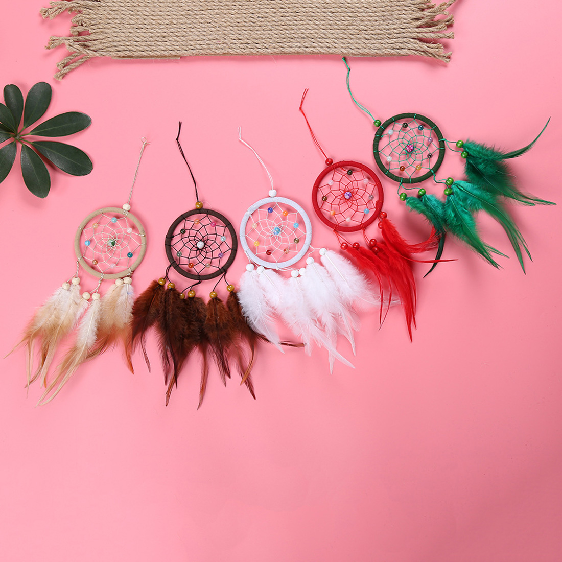 Carillon Extérieur Us 2 99 40 Off Mini Dreamcatcher Gift Handmade Dream Catcher Net With Feathers Wall Car Hanging Decoration Ornament Carillon A Vent Exterieur In