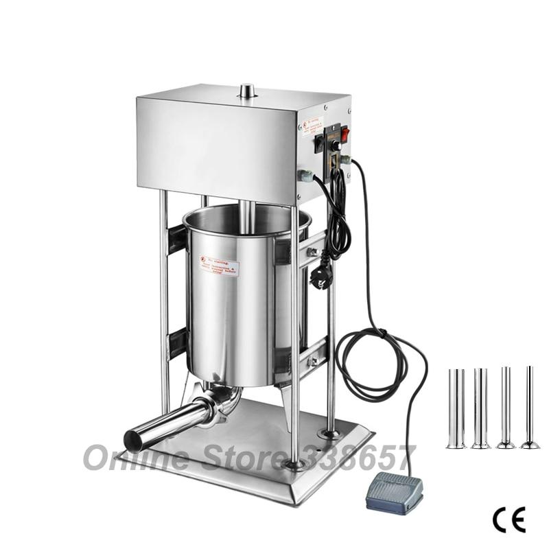 220V 110V 10L commercial sausage making stuffer sausage extruder filler maker machine