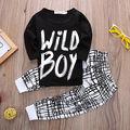 Ropa de verano para niños sets boy t-shirt + pants suit set de ropa recién nacido Ropa trajes del deporte del bebé ropa de niño los niños ropa de las muchachas