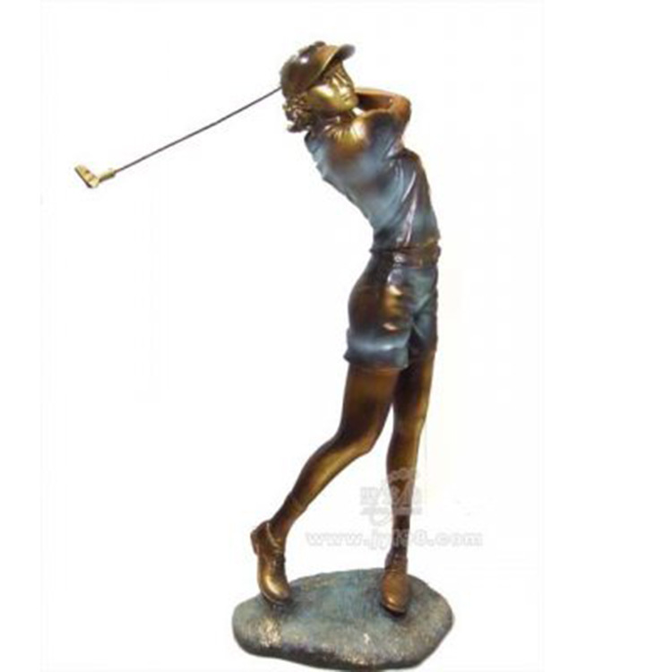 European modern resin crafts ornaments home decorations for men and women golfers den office furnishings