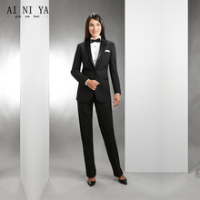 Women Pant Suit Work wear women s trousers autumn winter long sleeve coat and trousers a