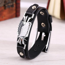 Attack on Titan wings of freedom Leather Bracelet