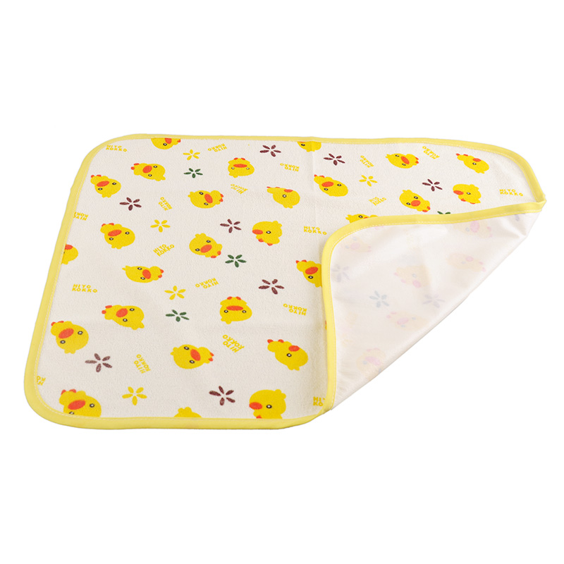 Cotton Baby Changing Mat Crib Stroller Pram Waterproof Bed Nappy Sheet Cover Waterproof Urine Pad Mattress Travel S M L Yellow