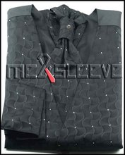 Free shipping Wholesale  new Men wedding Bridegroom black waistcoat 4pcs