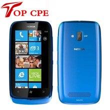Оригинальный nokia lumia 610 5mp wifi gps ос windows 8 ГБ встроенной памяти открыл мобильный телефон бесплатная доставка