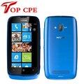 Original nokia lumia 610 5mp wifi gps sistema operativo windows 8 gb de memoria interna abrió el teléfono móvil del envío gratis