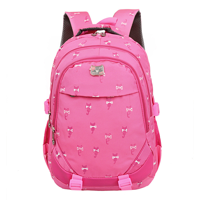 School Bags for Girls Pupils Students Children Backpacks Primary Kids Book Bag Animal Prints Princess Satchel Mochila Infantil