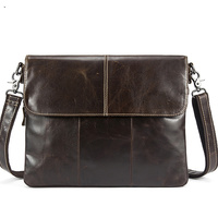 2019 Messenger Bag Men Genuine Leather Men's shoulder bags male Casual Zipper Crossbody Bags clutch bag for men handbags 8007