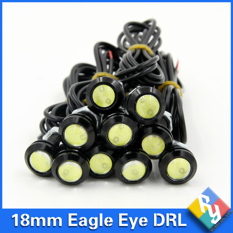 10pcs High brightness DRL 12V 18mm Eagle Eye Daytime Running Light LED Car work Lights Source Waterproof Parking Auto Fog Lamp 2015new arrival eagle eye 3 smd led daytime running light 20pcs lot 10w 12v 5730 car light source waterproof parking tail light